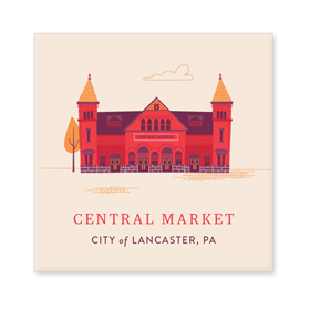 Central Market Magnet