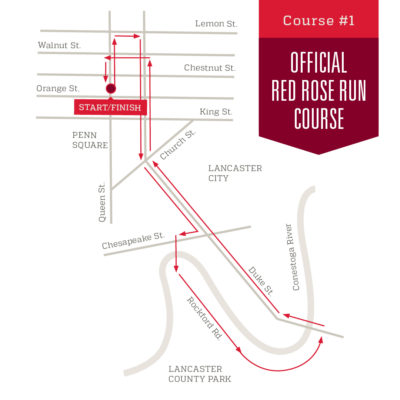 Course 1: Official Red Rose Run Course