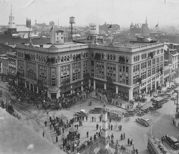 Historical photo of Penn Square, Lancaster City, PA